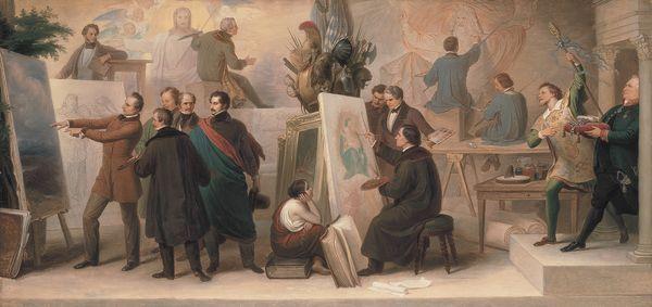 Genremalerei  Die von König Ludwig I. zur Ausführung seiner Ideen berufenen ...