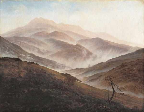 Landschaftsmalerei romantik friedrich  Der Sommer (Landschaft mit Liebespaar) (M+) | DIE PINAKOTHEKEN